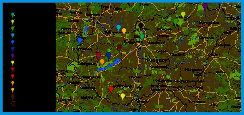 magyarország várai térkép koloratour.hu   Színes Magyar Várak |Térkép magyarország várai térkép